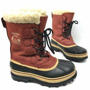 SOREL CARIBOU Women's Lined Winter Boots in Merlot